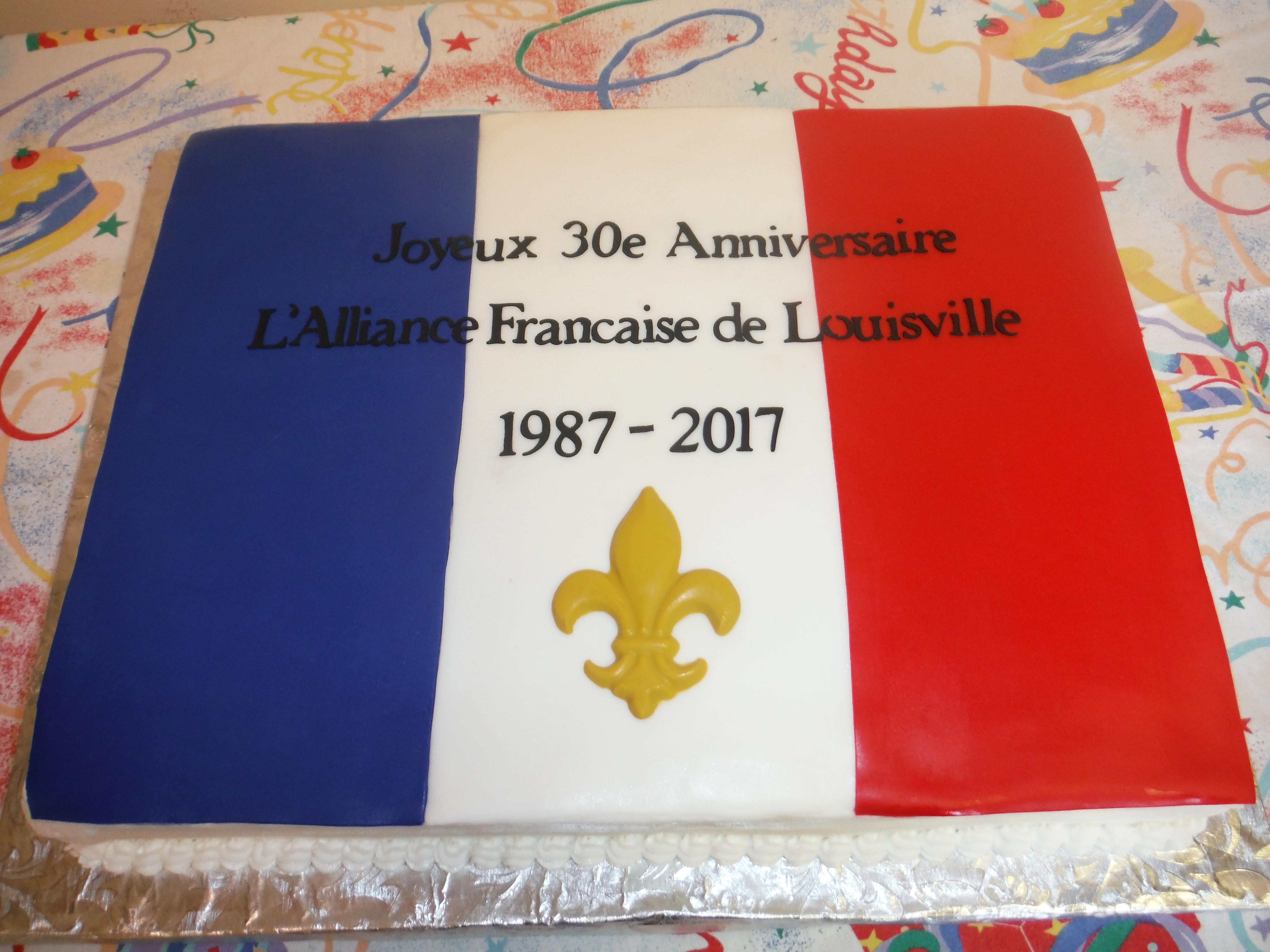 2017 30th Anniversary Cake
