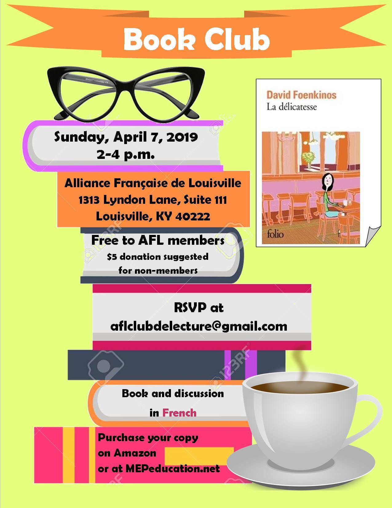 book club avril 2019